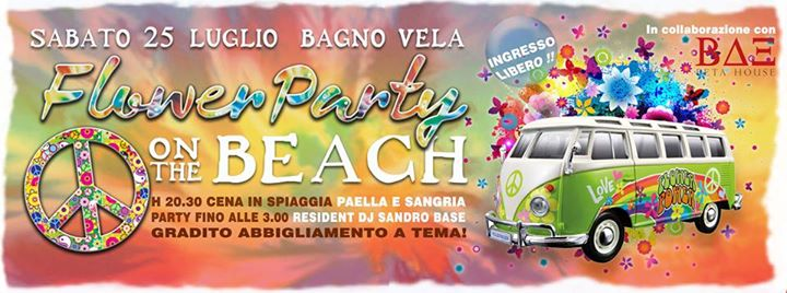 Flower party on the beach a forl 25 07 2015 - Bagno vela lido di classe ...