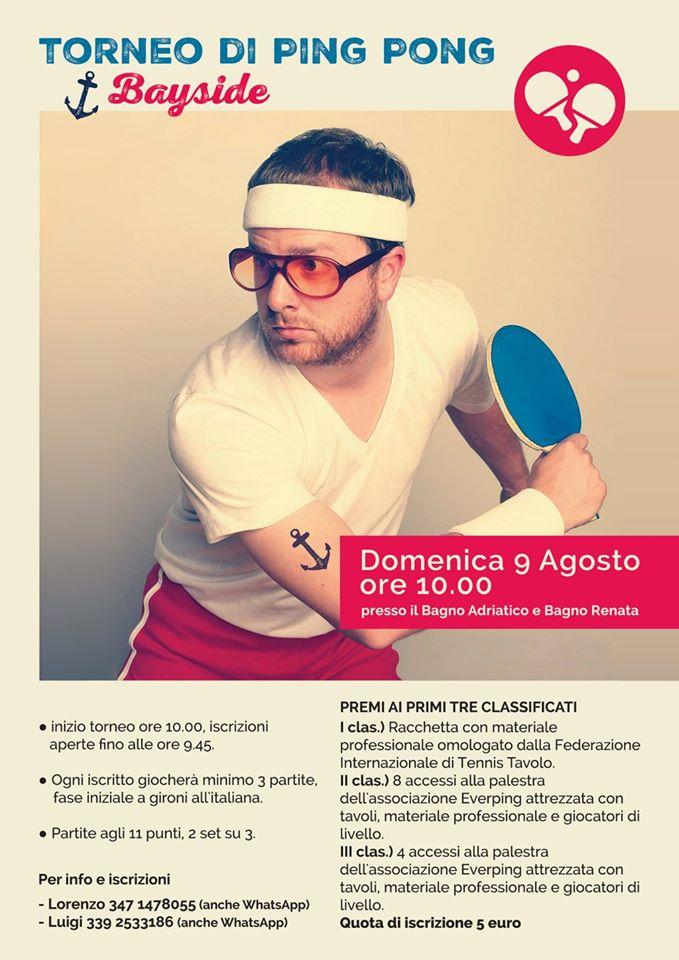 Torneo ping pong bayside 2015 a cesenatico 09 08 2015 - Bagno adriatico cesenatico ...