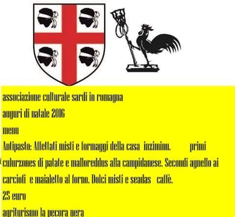 Auguri Di Natale In Sardo Campidanese.Auguri Di Natale 2016 Associazione Culturale Sardi In Romagna A